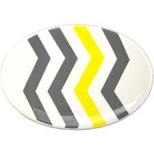 Grey And Yellow Bathroom by Mainstays Chevron Soap Dish Yellow Walmart Com