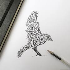 pen u0026 ink depictions of trees sprouting into animals by alfred