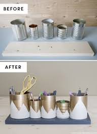 Diy Desk Organizer Ideas 15 Unique Diy Desk Organizing Ideas 2 Tin Can Organizer Diy And
