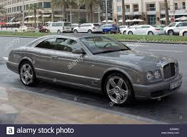 bentley silver rare 2011 silver bentley brooklands pillarless coupe stock photo