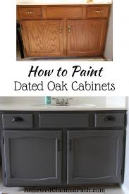 how to paint cabinets without primer how to paint dated oak cabinets