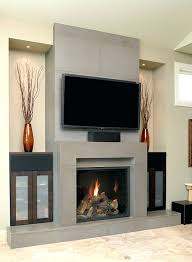 tv cabinet fireplace mantel over height ideas gas banquette hall