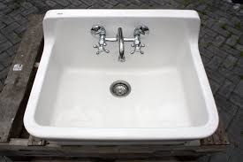 Powder Room Sinks Amazon Com Vintage Style High Back Farm Sink Original Porcelain