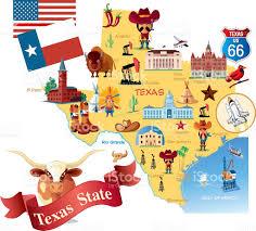 Map Dallas Texas by Cartoon Map Of Texas Stock Vector Art 472362981 Istock