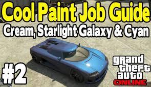 gta online cool paint job guide 2 cream starlight galaxy