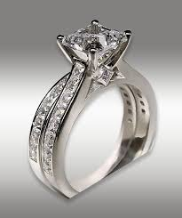 princess cut engagement rings white gold 3 72ct princess cut engagement ring matching wedding band 14k