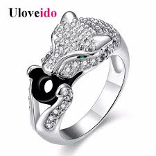 rings with stone images Buy uloveido leopard rings for women silver color jpg