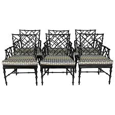 Bamboo Patio Set by Faux Bamboo Metal Patio Chairs Set Of Six At 1stdibs