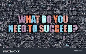 what do you need succeed multicolor stock illustration 394581577