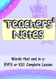 eyfs or ks1 phonics words ending in y a complete engaging and