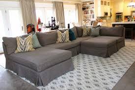 How To Make Slipcover For Sectional Sofa Inspiring Custom Slipcovers For Grey Sectional S3net