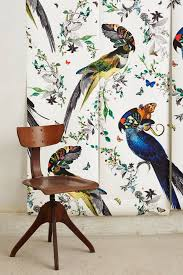 Fabric Wall Murals by Lear Gaukur Mural Anthropologie Com For Downstairs Bathroom
