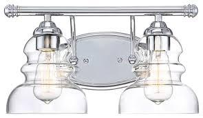 millennium lighting 2 light vanity light chrome clear 7332 ch