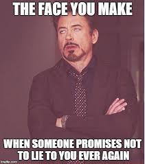 Lie Memes - face you make robert downey jr meme imgflip