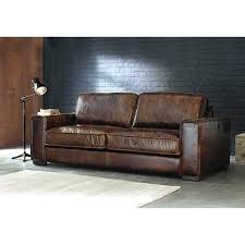 interiors canapé canape vintage cuir marron canapac 3 places coloris alaska dangle