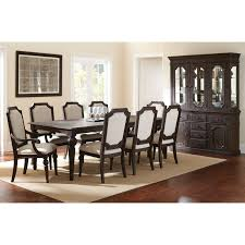 9 dining room set steve silver cayden 9 dining table set with optional buffet