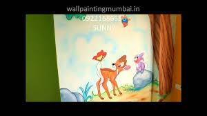 play cartoon wall painting 3d theme designs wall room