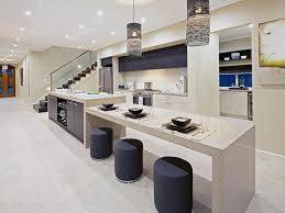 kitchen island with table attached decoration effect and function
