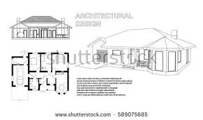Floor Plan And Perspective Architecture House Stock Images Royalty Free Images U0026 Vectors
