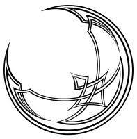 celtic crescent moon drawing clipartxtras