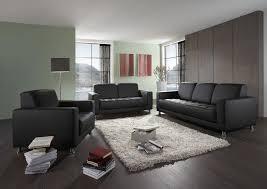 sofa garnitur 3 teilig polstergarnitur 3 tlg sofa 3er 2er sessel schwarz do abriola 2