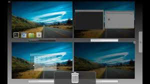 multiple workspaces a cool feature in linux mint 14 cinnamon
