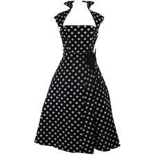 design dress skelapparel vintage design polka dot high collar swing dress at