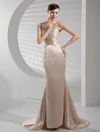slim elegance elastic woven satin wedding dress milanoo com