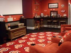 ohio state room ideas for mancave except in mu colors for