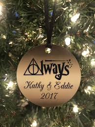 custom harry potter christmas ornament deathly hallows