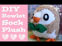 make your own plush diy rowlet sock plush how to make your own adorable