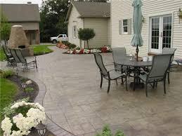 Textured Concrete Patio by Stamped Concrete Ashler Slate Stamp Pattern Sandstone Hardener