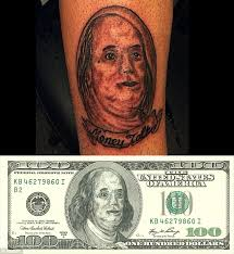 terrible tattoos of bad portraits and animal drawings are edited