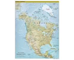 The United States And Canada Political Map by Maps Of North America And North American Countries Political
