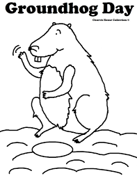groundhog day coloring pages fablesfromthefriends com