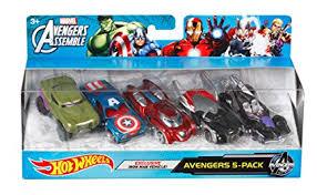 pack de imagenes hot hd amazon com hot wheels marvel avengers die cast vehicle 5 pack