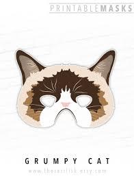 grumpy cat printable mask photo booth prop grumpy cat mask