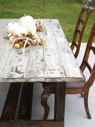 Diy Farmhouse Table And Bench Thrifty And Chic Diy Projects And Home Decor