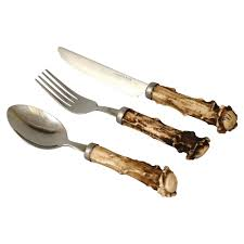 antler furniture and decor faux antler crown flatware camo trading