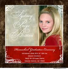 homeschool graduation announcements modern square graduation photo card 2018 open house