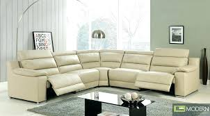 Leather Electric Recliner Sofa Modern White Leather Recliner Sofa Electric Power 19180 Gallery