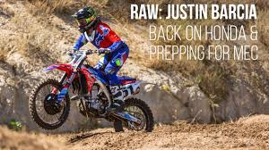 monster energy motocross gloves raw justin barcia back on a honda and prepping for monster energy