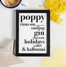 personalised my best friend runs on print by coconutgrass