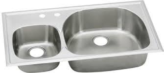 38 Inch Kitchen Sink Elkay Ecgr3822l2 38 Inch Top Mount Bowl Stainless Steel