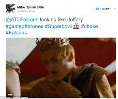 Choke Meme - memes poke fun at atlanta falcons super bowl choke daily mail online