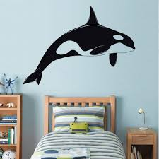orca killer whale decal wall sticker art home decor vinyl orca killer whale decal wall sticker art home decor vinyl silhouette shamu st32