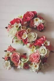 Floral Decor Floral Letters From Begoniaroseco On Etsy Handmade Floral Decor