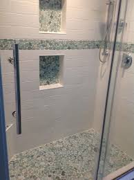 tile ideas for downstairs shower stall for the home 562 best bathroom pebble tile and stone tile ideas images on