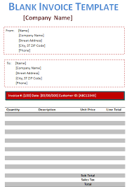 blank invoice template 5 free blank invoices
