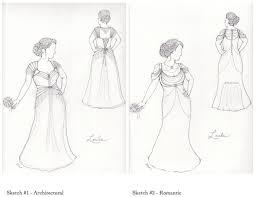 loula u0027s custom wedding dress sketch